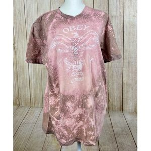 Obey | Oversized Bleached Distressed T-Shi…